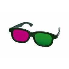 3D bril groen/magenta zwart frame