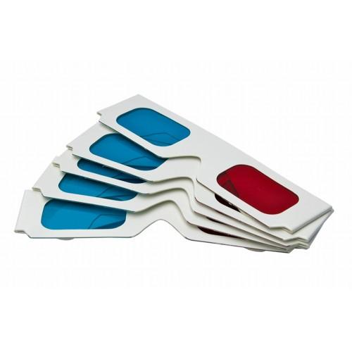 6d26e6f5da9eba 3D-bril karton rood cyaan 5 stuks